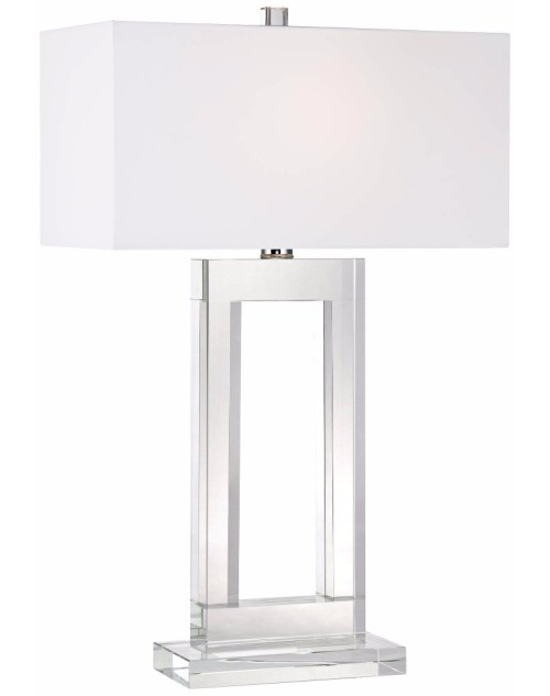 modern look Rectangular in shape Window Modern Crystal Table Lamp