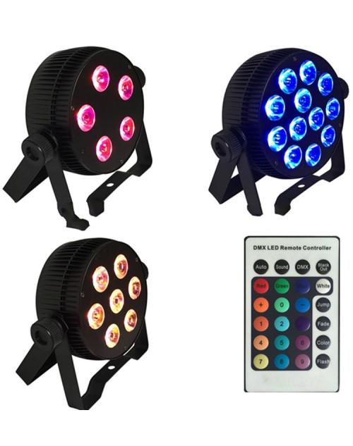 12*6in1 8W RGBW+UV IR Slimpar Series flat Par can