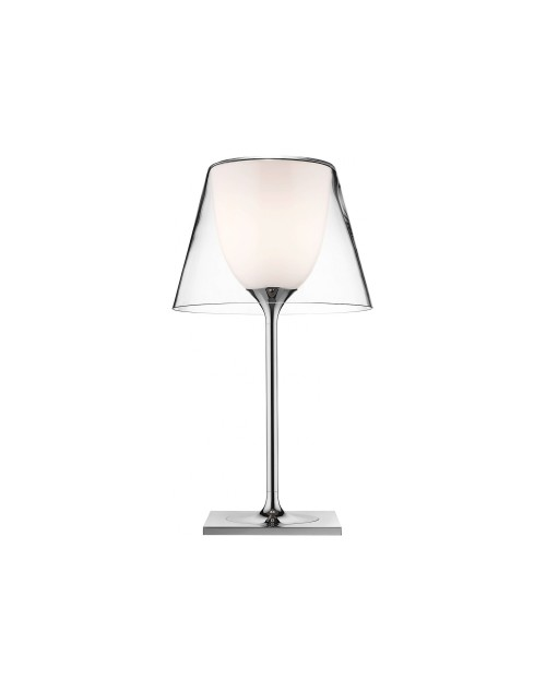 inner polished aluminum tubular polished zamak alloy Glass Table Lamp