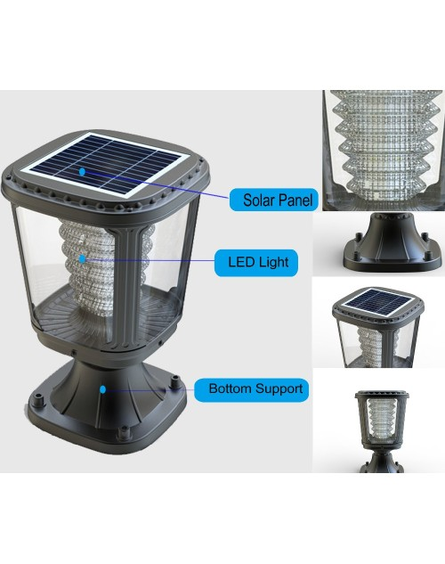 Aluminium Alloy Main Gate Led Solar Garden Outdoor Light Fittings
