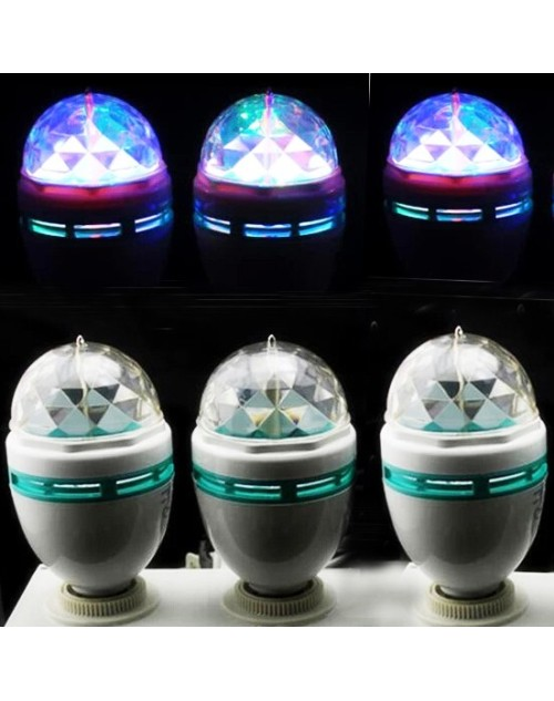 Disco Party Bar Club Effect Stage Light Bulb E27 LED Lighting Full Color Rotating Lamp