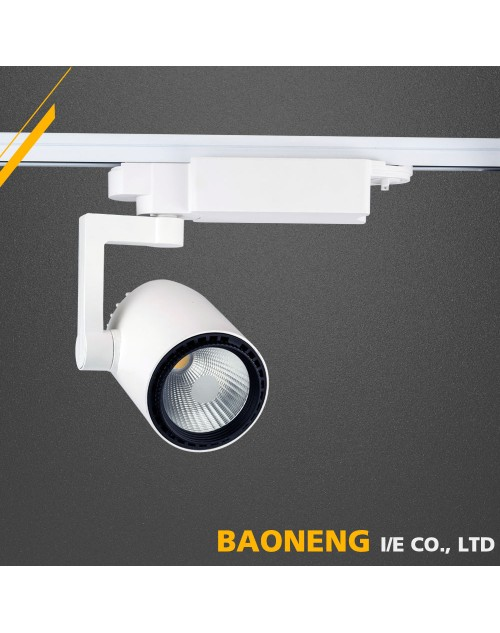 High Lumen 90Lm / W 3000K - 6000K Color COB 30W LED Track Light With SAA
