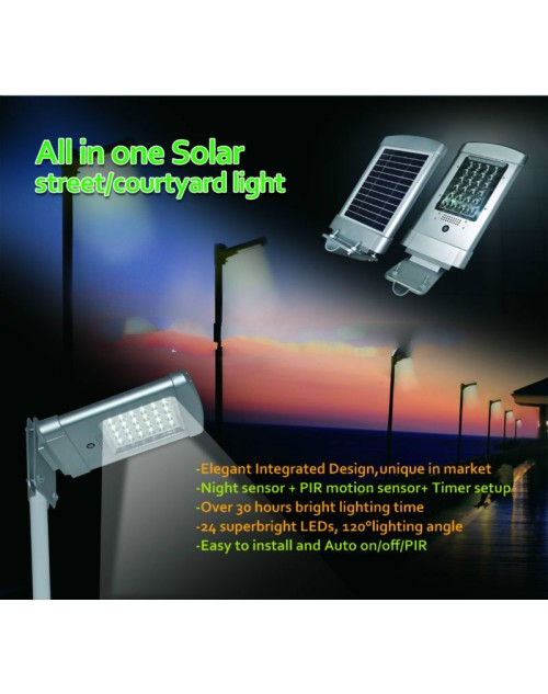 Integration High Quality 5W LED Garden Solar Light With Motion Sensor